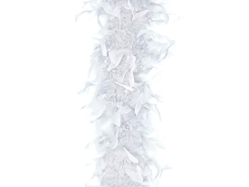 Boa Blanc en plumes