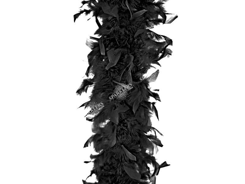 Boa Noir en plumes
