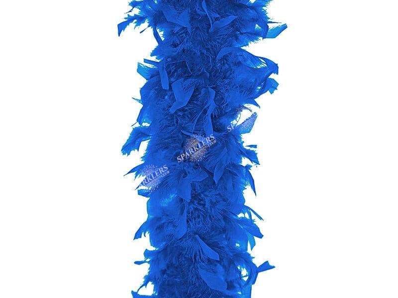 Boa Bleu en plumes