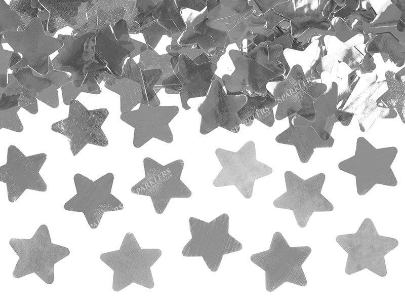 Canons confettis 80CM étoile argent