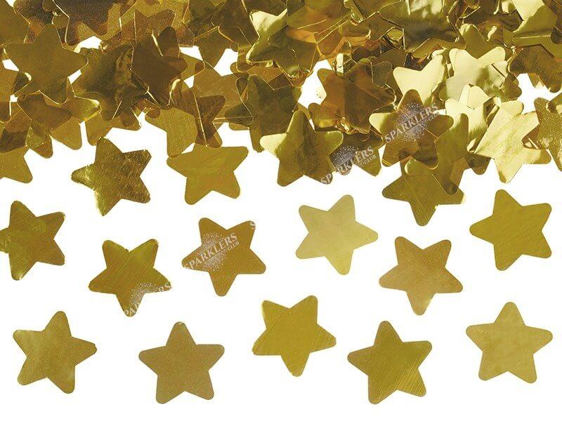Canons confettis 80CM étoile or
