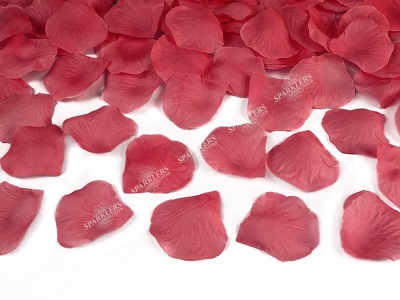 Canon confettis 80cm pétales roses couleur rouge