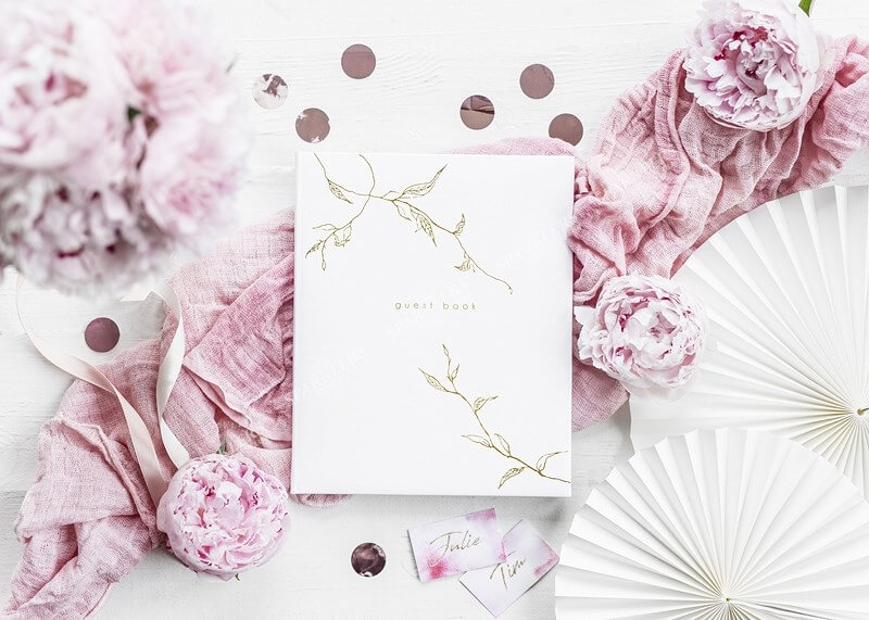 Livre d'or mariage blanc 22 pages