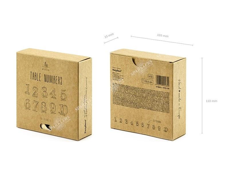 Numéros de table en bois de 1 à 10