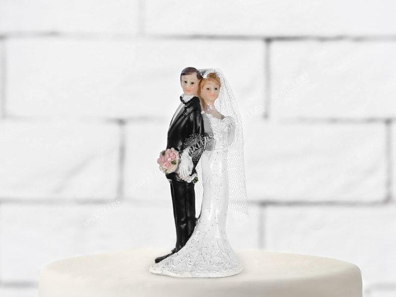 Figurine mariage couple dos à dos