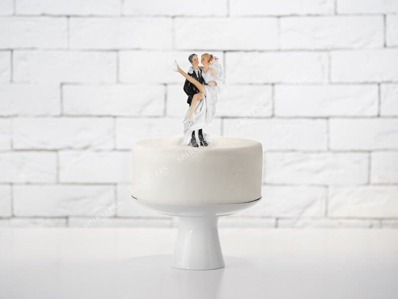 Figurine mariage Mari porte la mariée