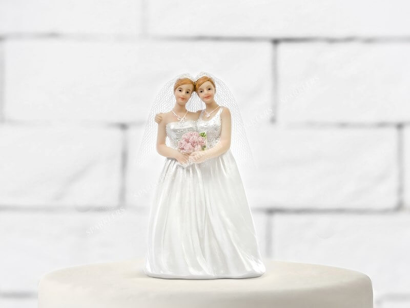 Figurine mariage couple lesbiennes