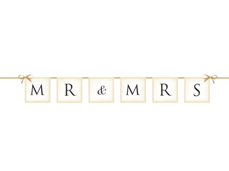 Bannière MR & MRS Blanc