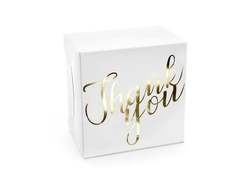 Lot de 10 Boîtes à gateaux en papier blanc