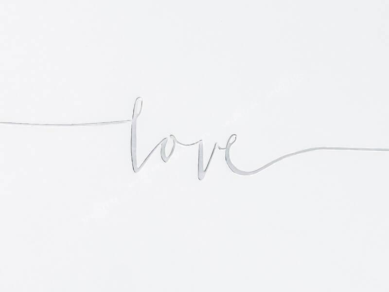 """Livre d'or """"Love"""" Argent"""