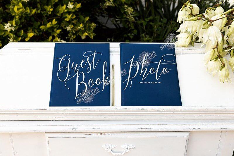 Livre d'or mariage bleu navy