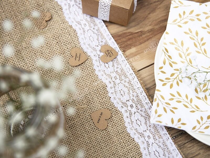 Chemin De Table En Toile De Jute 2m75 Sparklers Club