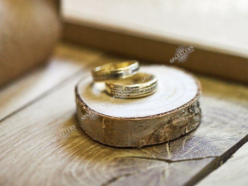 20 Cartons de table en bois, diamètre 4.5-6.5cm