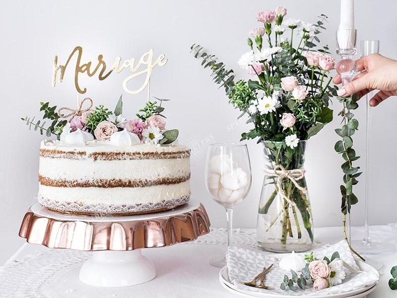 Décoration Gâteau Mariage Or 225cm