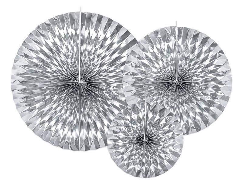 Rosaces décoratives argent (3 pièces)