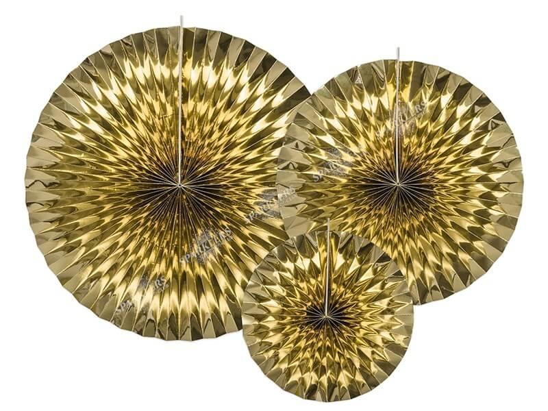 Rosaces décoratives couleur or (3 pièces)