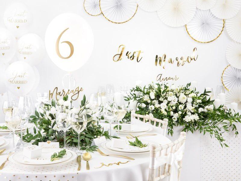 Rosaces décoratives blanches à bords dorés  (3 pièces)