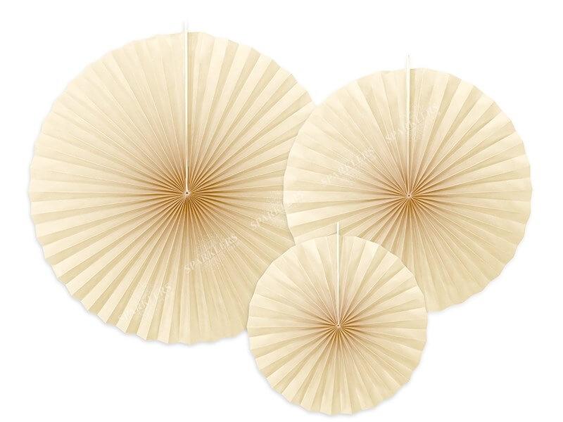 Rosaces décoratives couleur crème (3 pièces)