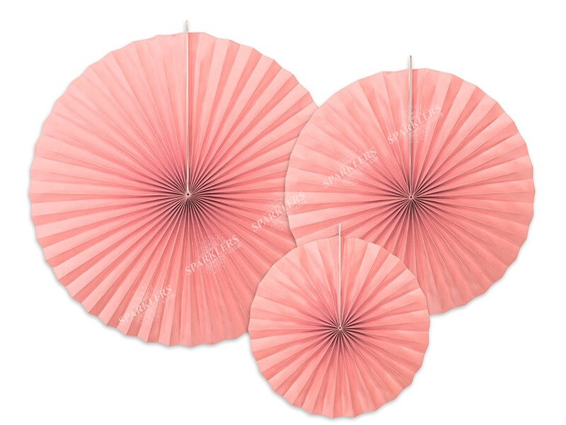 Rosaces décoratives couleur rose pâle (3 pièces)