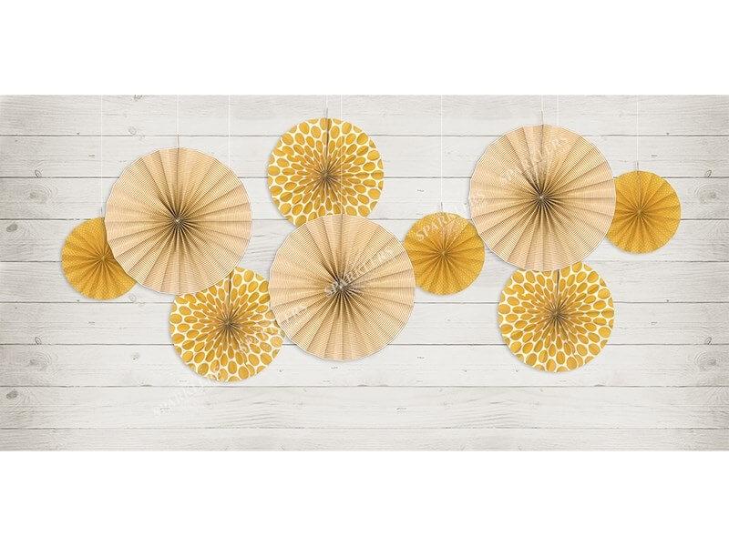 Rosaces décoratives oranges avec motifs (3 pièces)