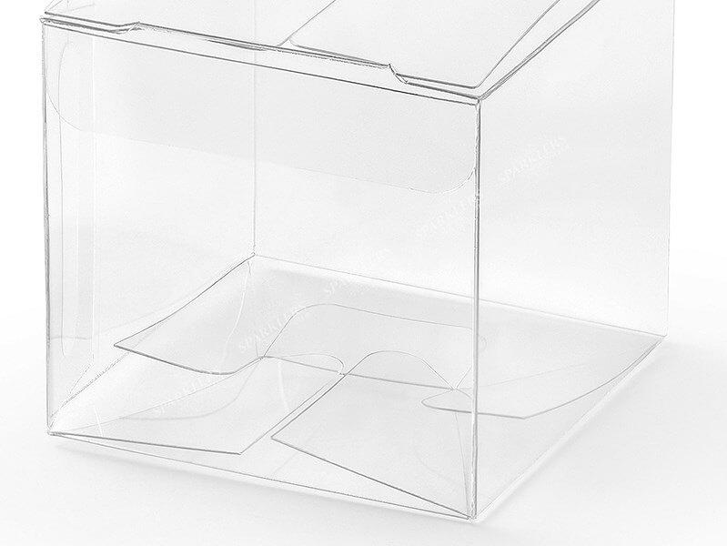 Boîtes carrées, transparentes, 5x5x5cm lot de 10