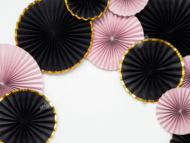 Rosaces décoratives roses claires (3 pièces)