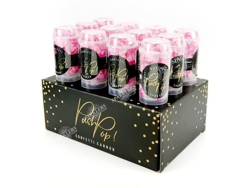 Confettis push pop rose