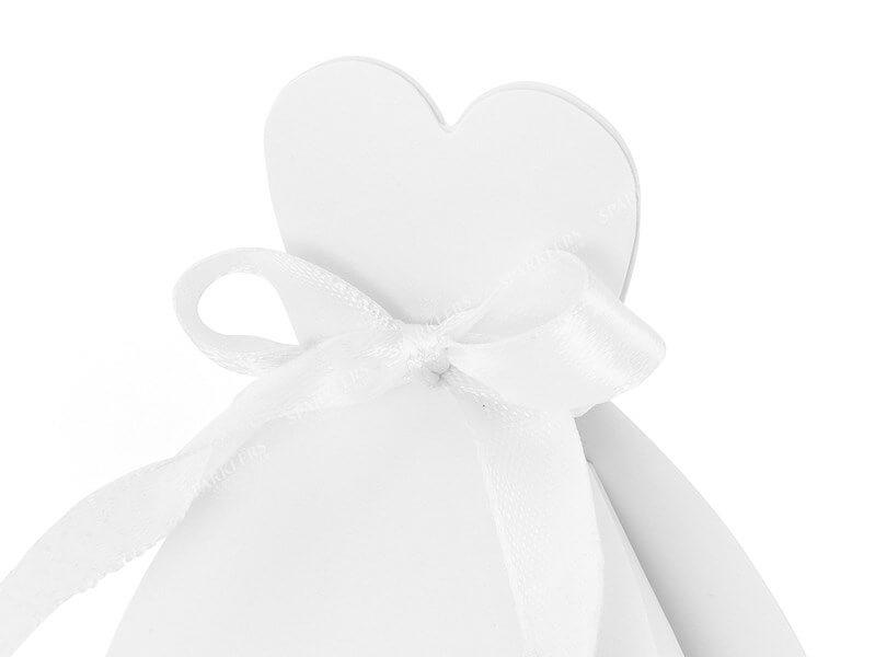 Boites de mariée, blanc lot de 10