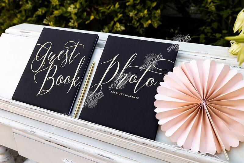 Livre d'or mariage noir 22 pages