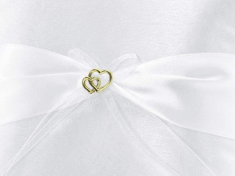 Coussin porte alliance mariage coussiné blanc