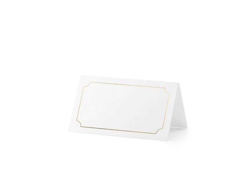 Marque place original blanc et or (Lot de 10)