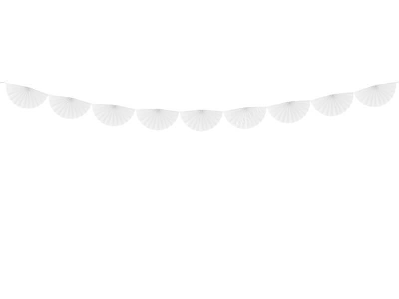 Guirlande de tissus rosettes blanches 3 mètres