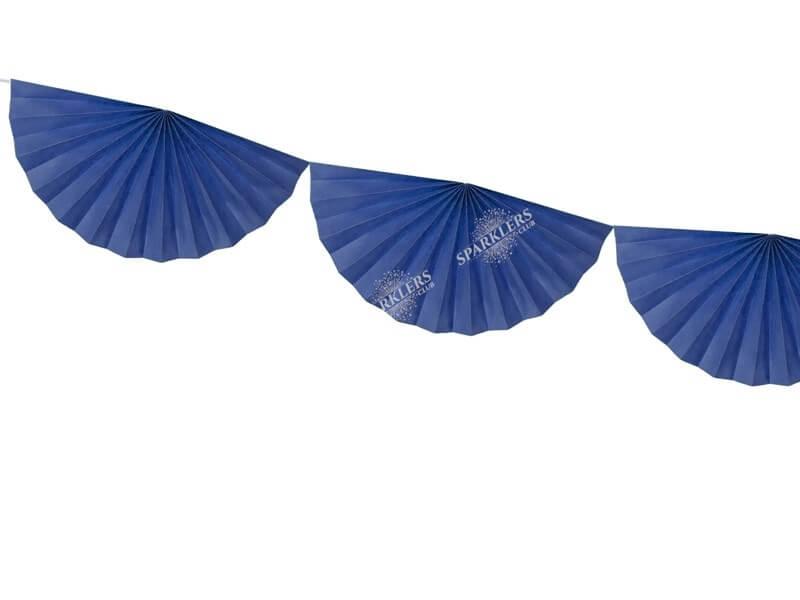 Guirlande de tissus rosettes bleues 3 mètres
