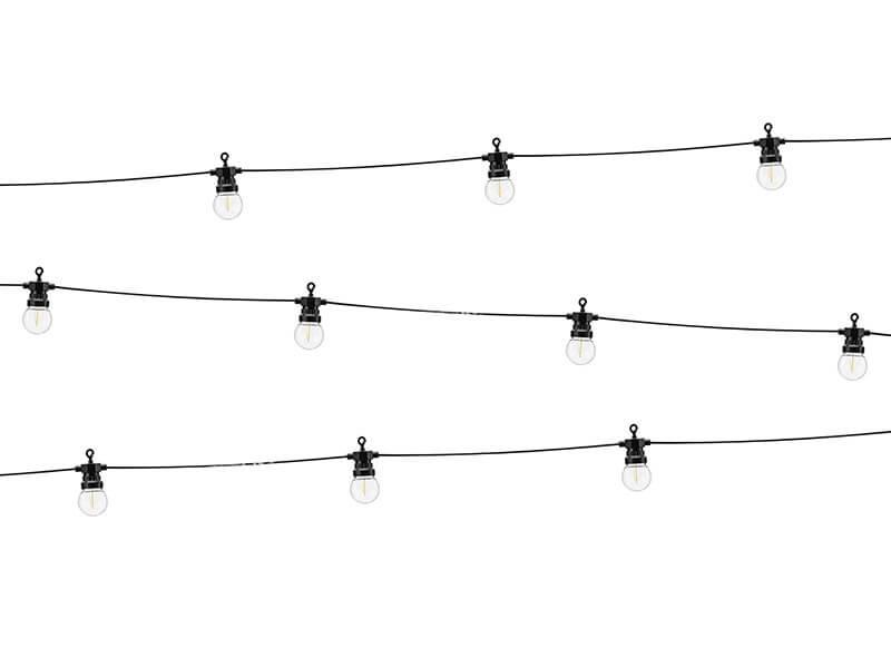 Guirlande à LED Retro 5 mètres (éclairage jaune chaud)