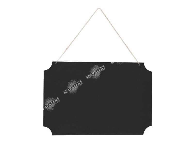 Enseigne de tableau noire à suspendre 45x30cm