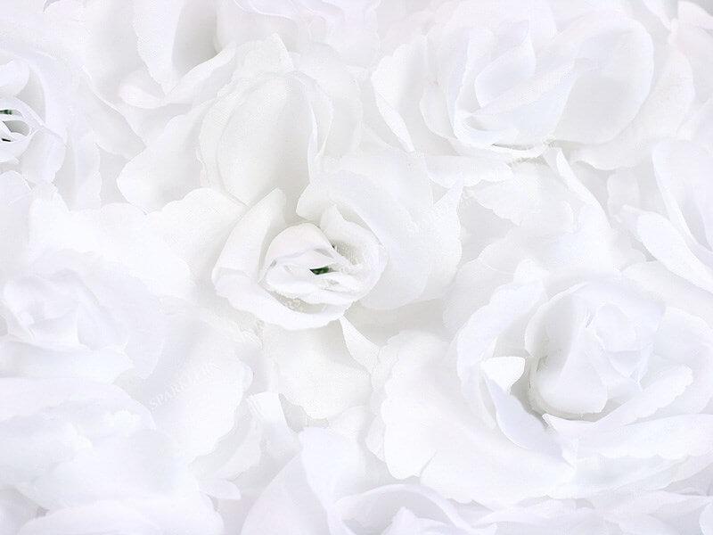 Coeur plein en fleurs blanches 50 cm