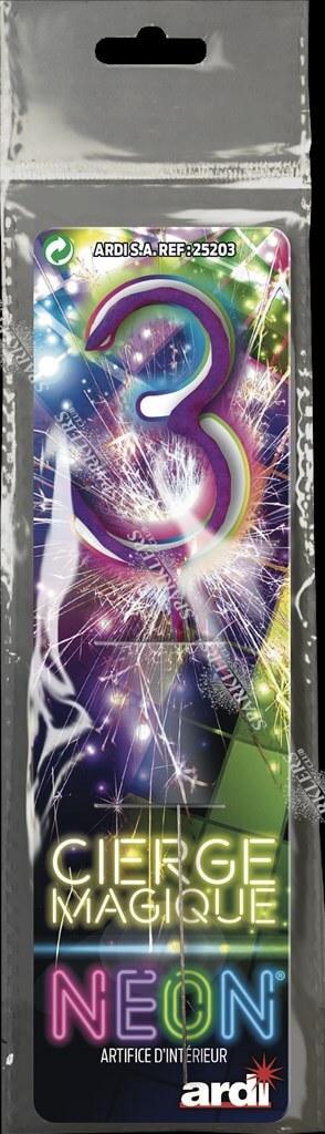 Cierge magique chiffre 3
