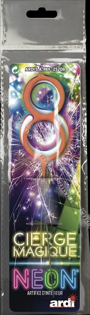 Cierge magique chiffre 8