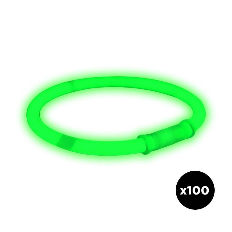 Bracelets Fluos Verts (vendu par 100 pièces)