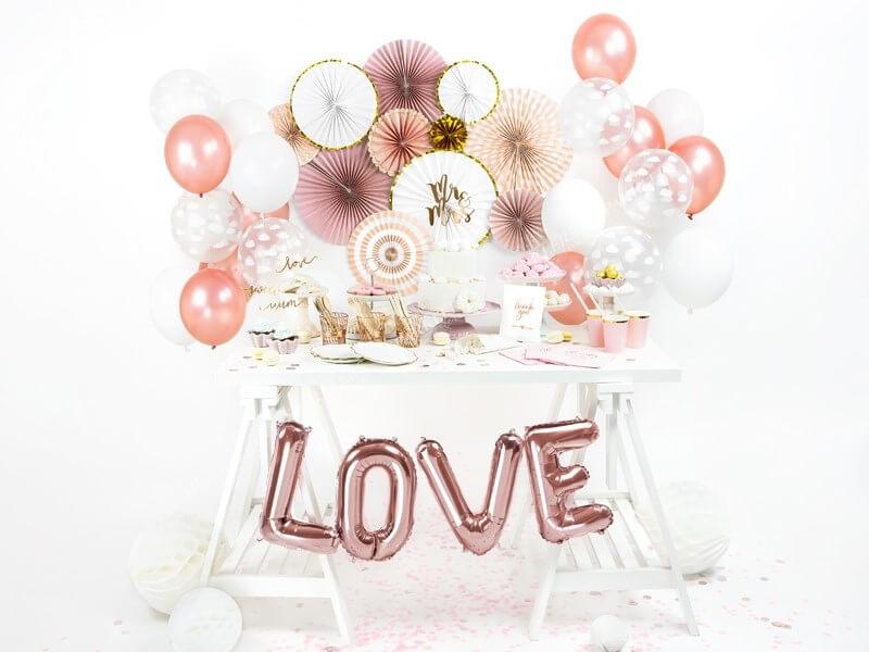 Ballon Lettre L Or Rose
