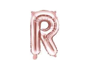 Ballon Lettre R Or Rose