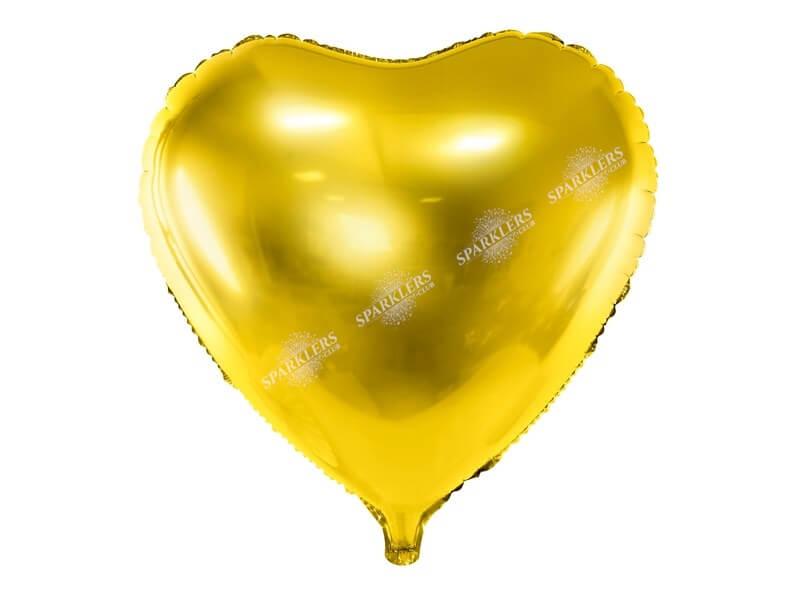 Ballon Coeur Or métallique 61cm