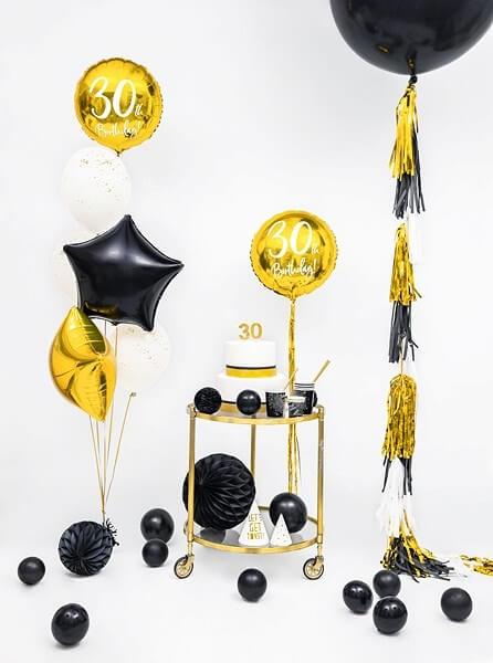 Ballon Étoile métallique Noir 48cm