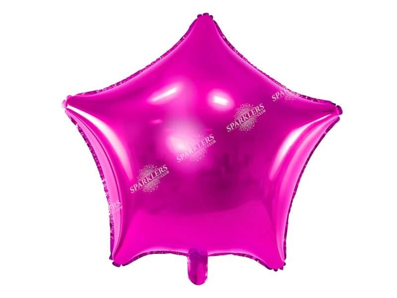 Ballon Étoile métallique Rose foncé  48cm