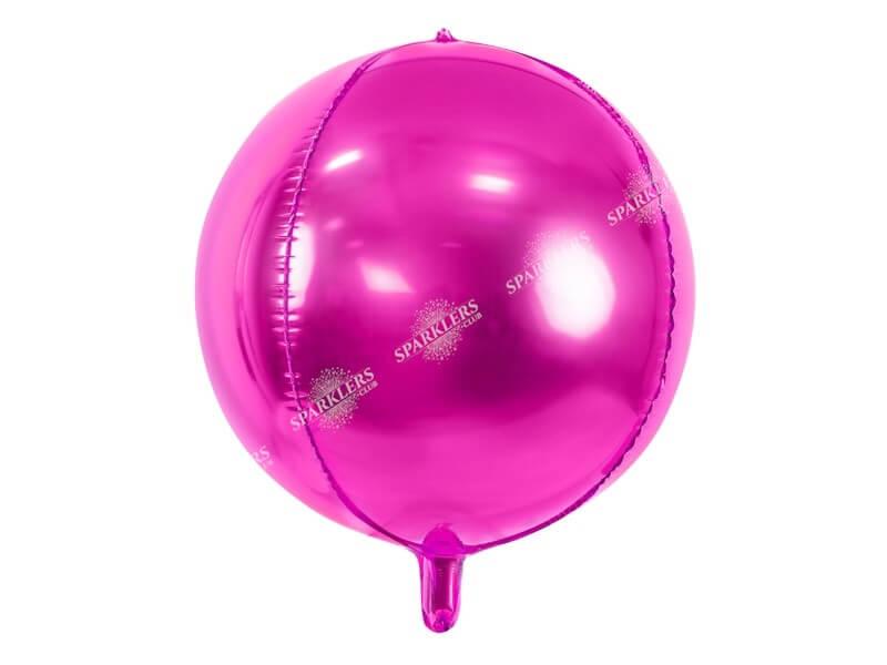Ballon rond métallique Rose foncé 40cm