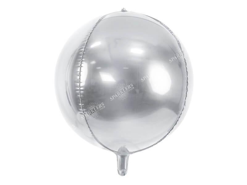 Ballon rond Argent métallique 40cm