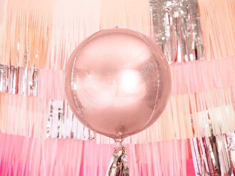 Ballon rond Or Rose métallique 40cm