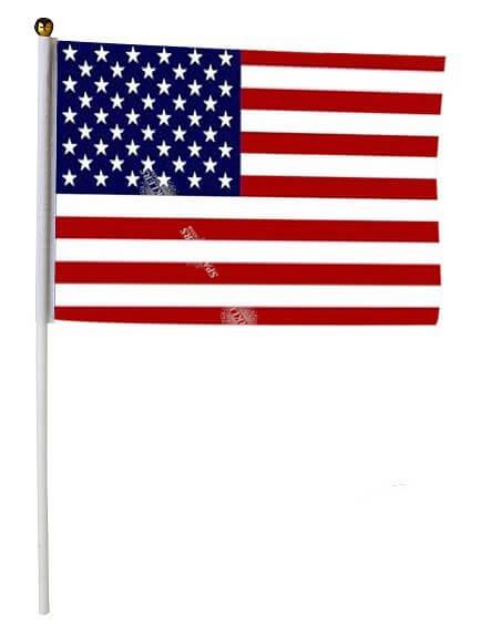 Lot de 12 Drapeaux USA 14x21cm