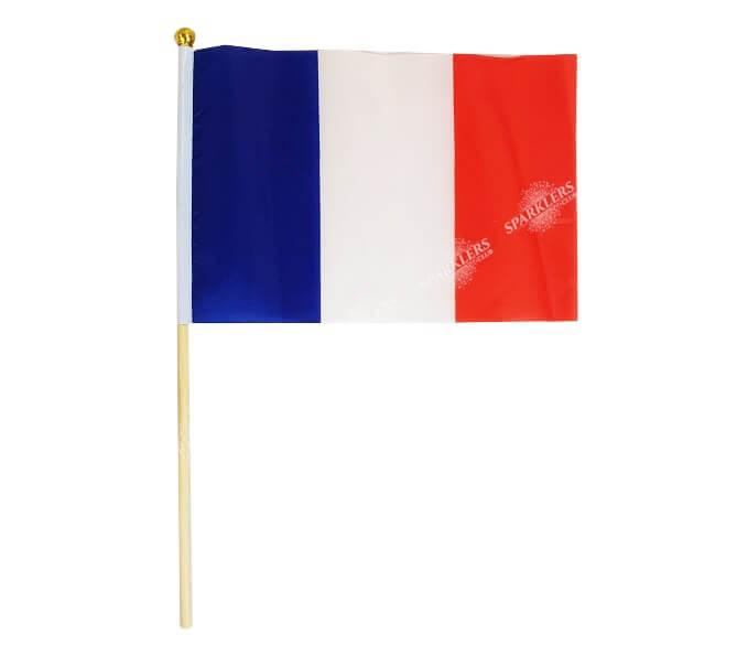 Lot de 12 drapeaux France 14x21cm