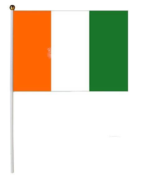Drapeau Côte d'Ivoire 30x45cm avec baguette